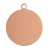 Metal Blank 24ga Copper Round 19mm With Hole 9pcs